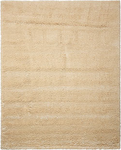Kathy Ireland for Nourison KI22 Yummy Shag YUM01 Bone Area Rug