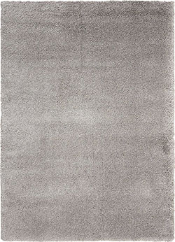 Kathy Ireland for Nourison KI22 Yummy Shag YUM01 Silver Area Rug