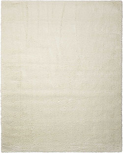 Kathy Ireland for Nourison KI22 Yummy Shag YUM01 White Area Rug