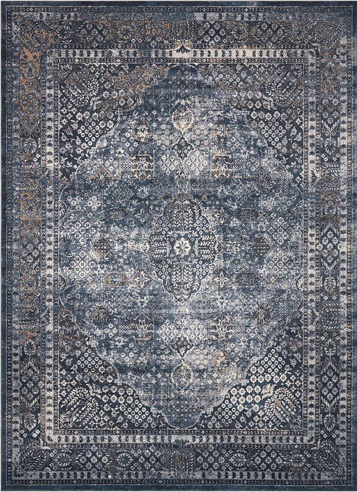Kathy Ireland For Nourison Ki25 Malta Mai01 Navy Area Rug