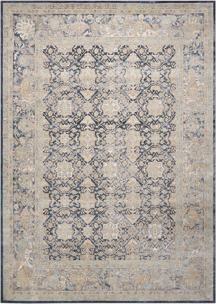 Kathy Ireland For Nourison Ki25 Malta Mai09 Navy Area Rug