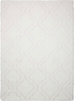 Kathy Ireland for Nourison KI30 Light & Airy KIT01 White Area Rug