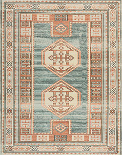 Nourison Madera MAD04 Teal/Green Area Rug