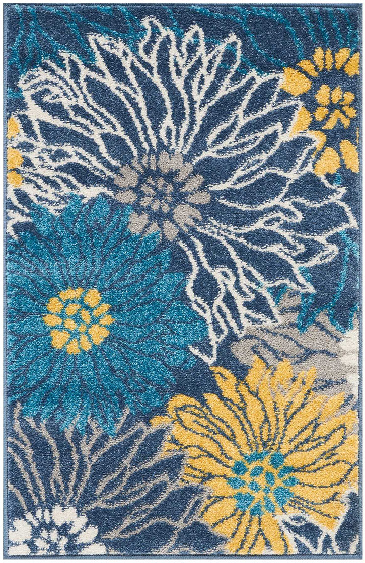 Nourison Passion Psn17 Blue Area Rug Carpetmart Com