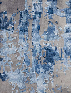 Nourison Prismatic PRS10 Blue/Grey Area Rug