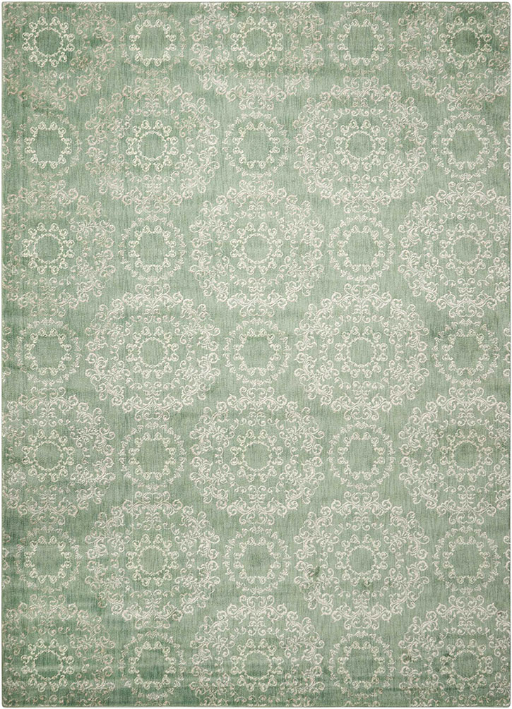 Nourison Tranquility Tnq03 Light Green Area Rug
