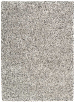 Nourison Amore Shag AMOR1 Light Grey Area Rug