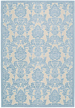 Nourison Graphic Illusions GIL03 Ivory/Lt. Blue Area Rug