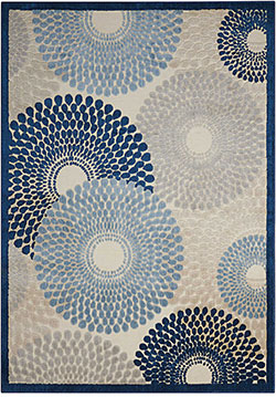 Nourison Graphic Illusions GIL04 Ivory/Blue Area Rug