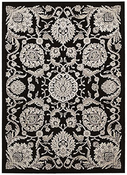 Nourison Graphic Illusions GIL17 Black Area Rug