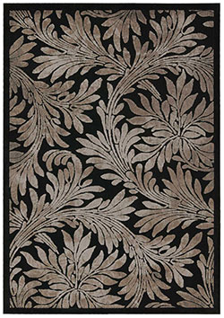 Nourison Graphic Illusions GIL19 Black Area Rug