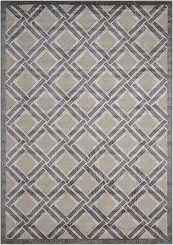 Nourison Graphic Illusions GIL21 Grey Area Rug