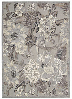 Nourison Graphic Illusions GIL26 Grey Area Rug