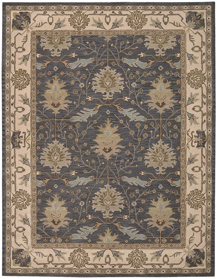 Nourison India House Ih75 Blue Area Rug Carpetmart Com
