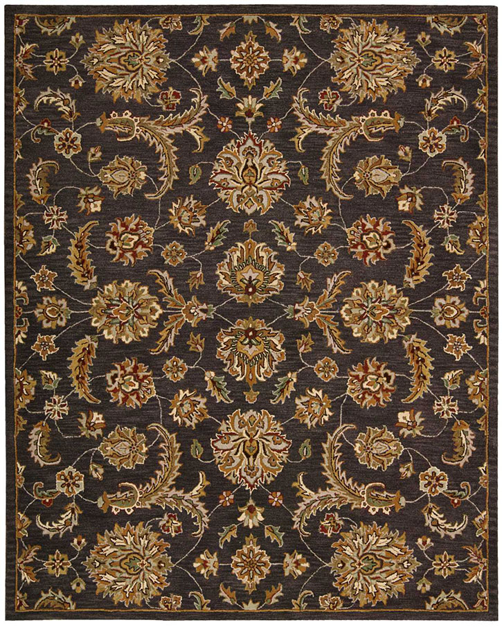 Area Rugs From India: Nourison India House IH83 Charcoal Area Rug