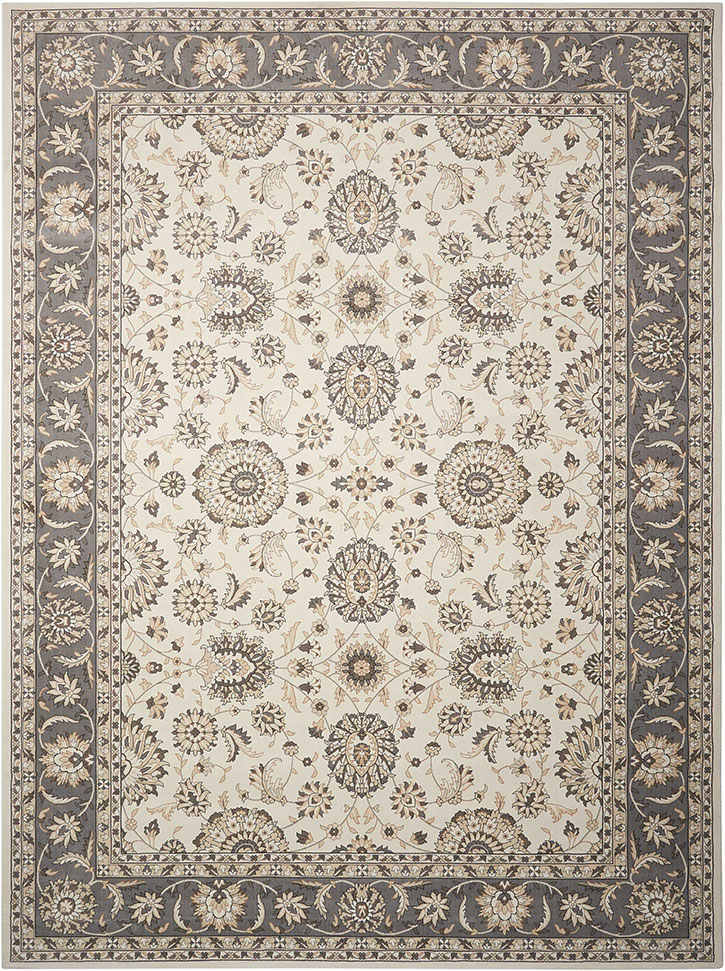 Nourison Persian Crown Pc002 Ivory Grey Area Rug