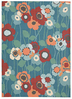 Waverly by Nourison WAV01 Sun & Shade SND27 Bluebell Area Rug