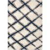 Orian Rugs Cotton Tail 8308 Line Trellis White Area Rug