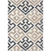Orian Rugs Cotton Tail JA06 Geo Diamond Blue Natural Area Rug