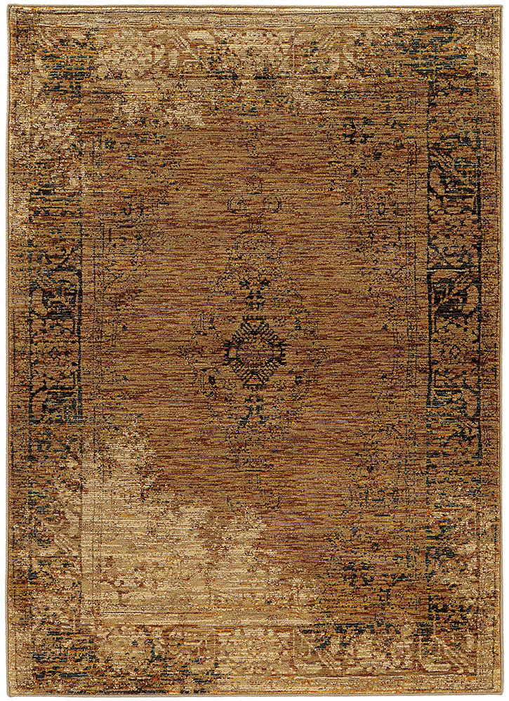 Oriental Weavers Andorra 6845d Gold Brown Area Rugs