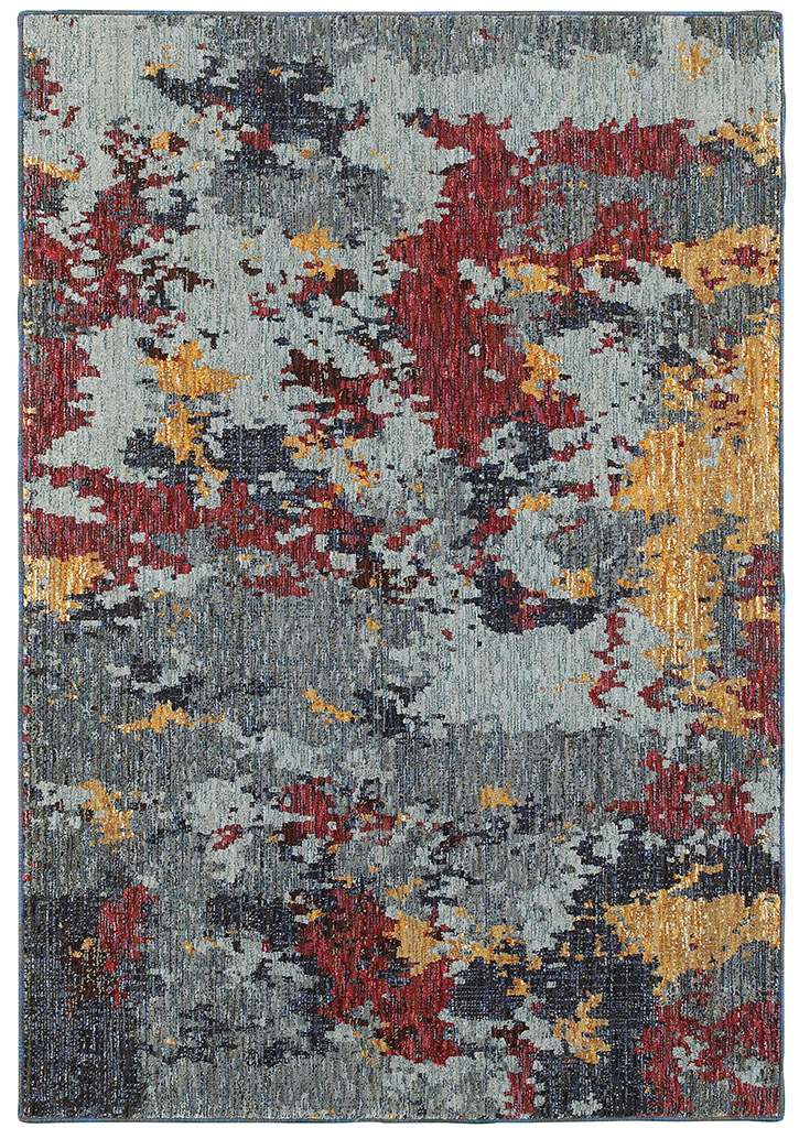 Oriental Weavers Evolution 8036c Blue Red Area Rug