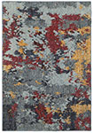 Oriental Weavers Evolution 8036C Blue/ Red Area Rug