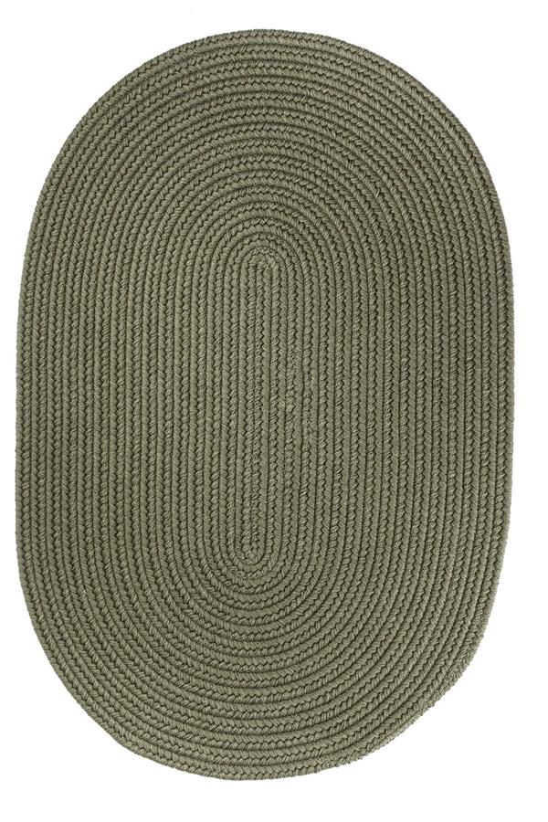 Rhody Rug Wool Solids S111 Moss Green Area Rug
