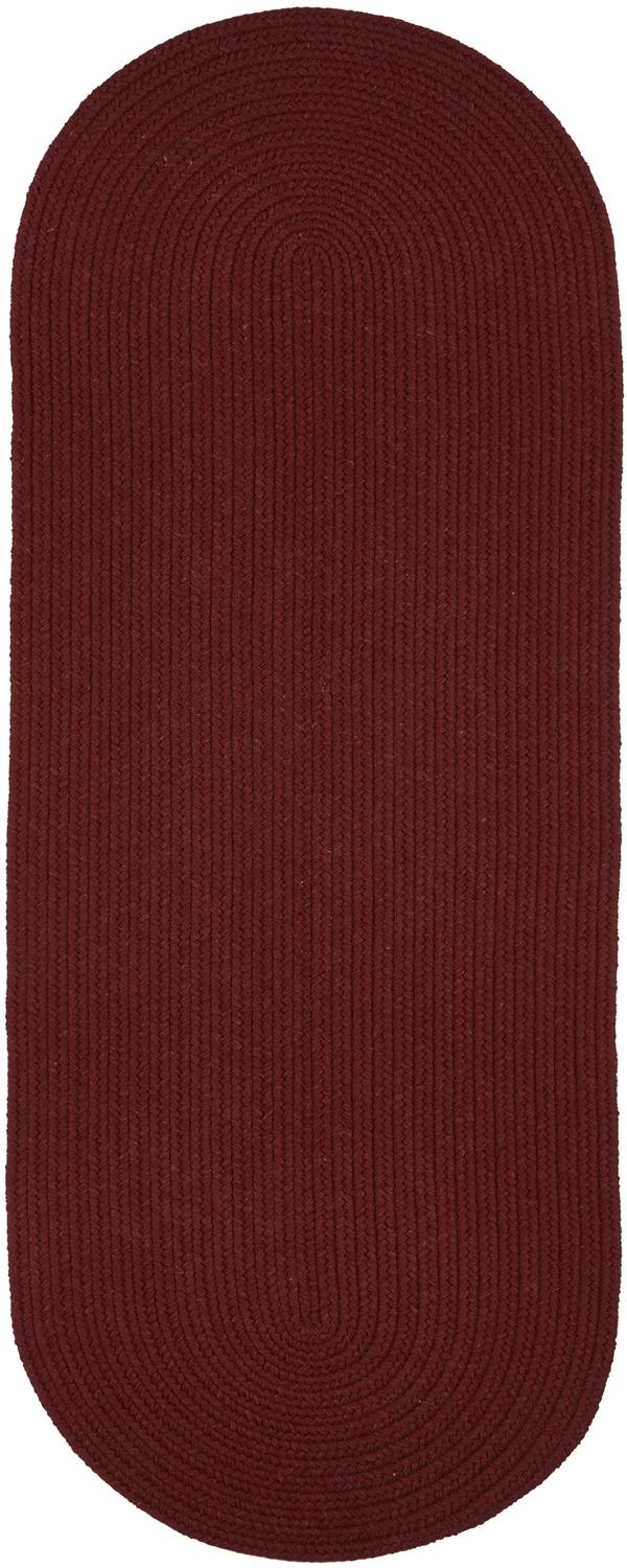 Rhody Rug Wool Solids S157 Red Wine Area Rug Carpetmart Com