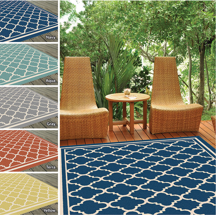 Garden City By Tayse Indoor Outdoor Area Rug Tangier