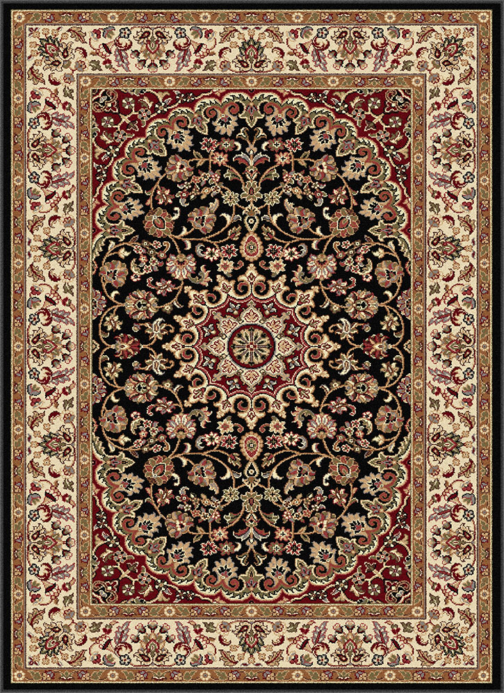 Elegance 5393 Black Area Rug By Tayse