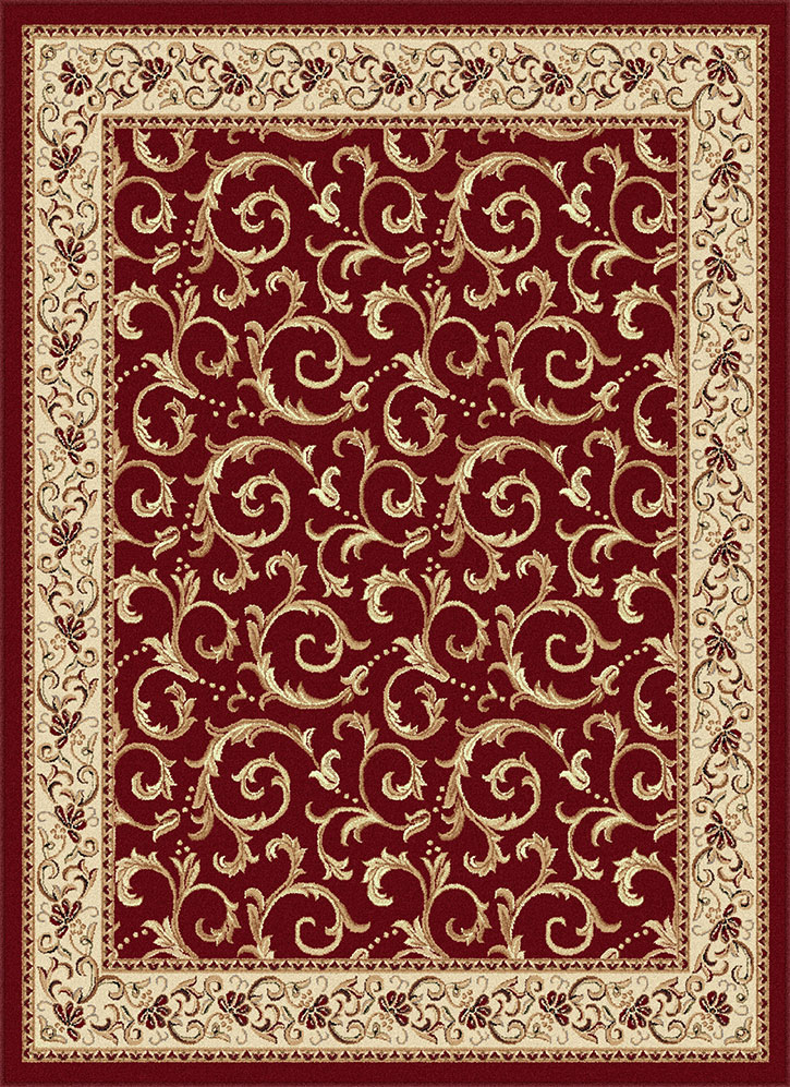 Tayse Elegance 5400 Red Area Rug Transitional Rugs