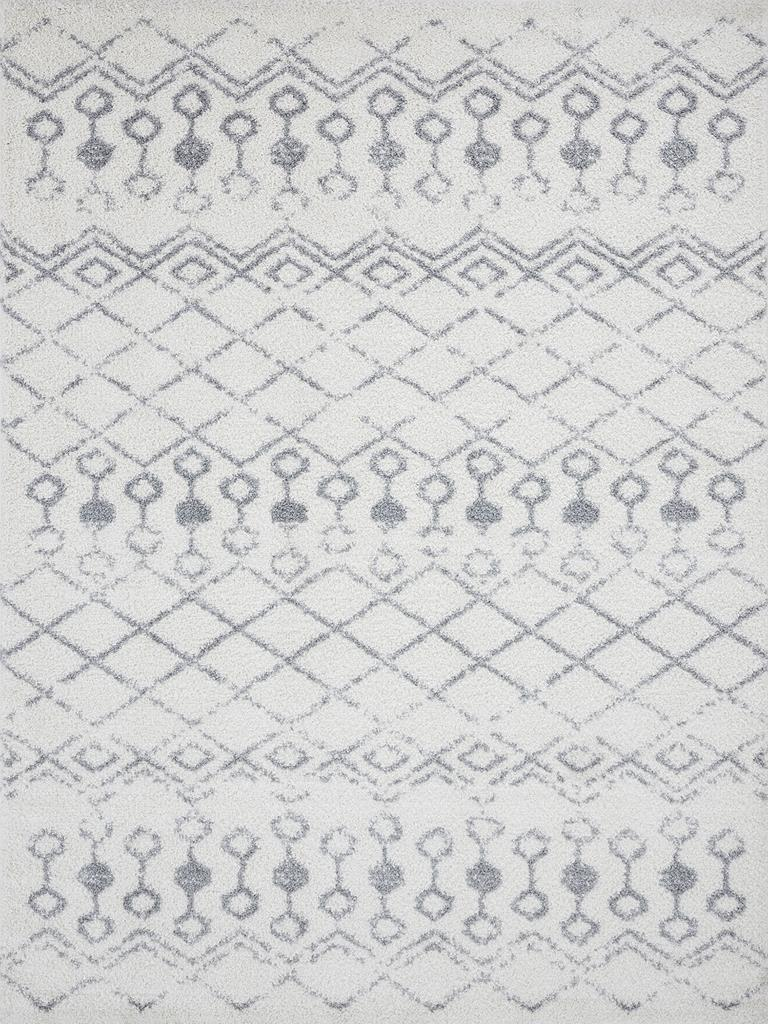 Tayse Wembley Shag Washington WMB3001 White Area Rug