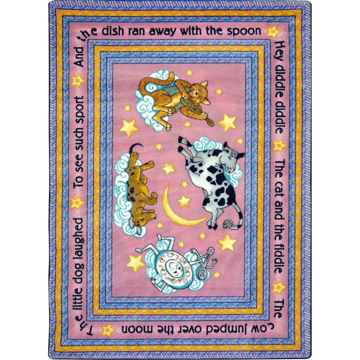 Joy Carpets Kid Essentials Infants Toddlers Hey Diddle Diddle