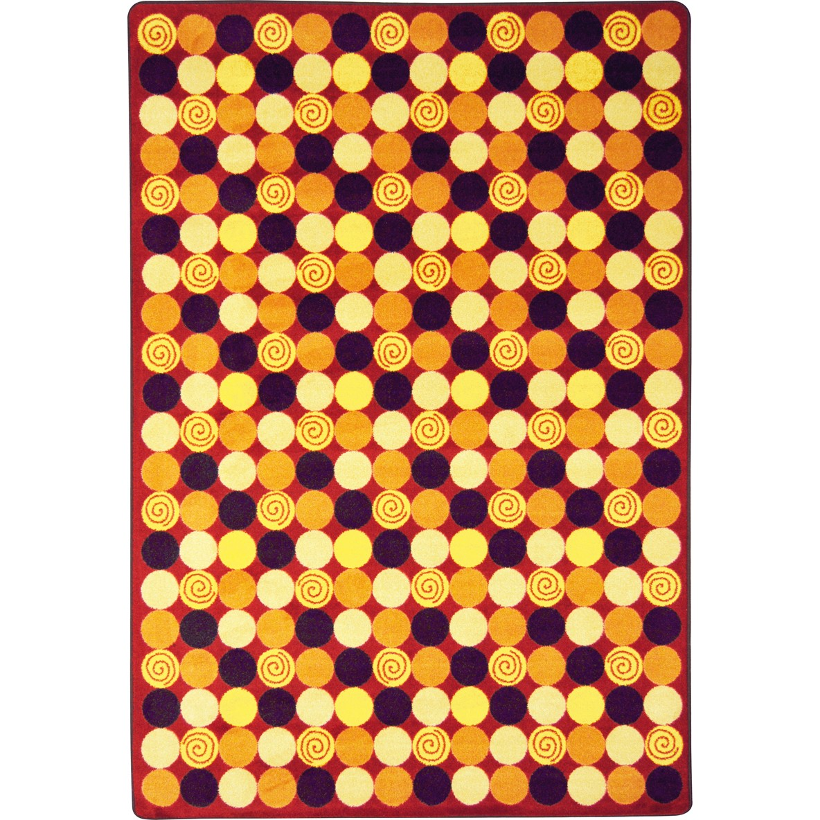 Teen Roundabout Red Area Rug