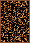 Any Day Matinee Acanthus Black Area Rug by Joy Carpets