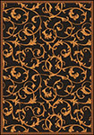 Any Day Matinee Acanthus Brown Area Rug by Joy Carpets