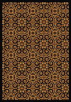 Any Day Matinee Antique Scroll Black Area Rug by Joy Carpets