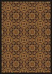 Any Day Matinee Antique Scroll Brown Area Rug by Joy Carpets