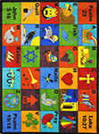 Kid Essentials - Inspirational Bible Phonics Multi Area Rug by Joy Carpets