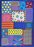 Kid Essentials - Infants & Toddlers Crazy Quilt Multi Area Rug by Joy Carpets