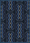 Any Day Matinee Deco Ticket Blue Area Rug by Joy Carpets