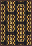 Any Day Matinee Deco Ticket Brown Area Rug by Joy Carpets