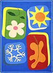 Kid Essentials - Infants & Toddlers First Seasons Multi Area Rug by Joy Carpets