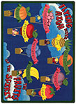 Kid Essentials - Inspirational Fruits of the Spirit Multi Area Rug by Joy Carpets