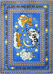 Kid Essentials - Infants & Toddlers Hey Diddle Diddle Blue Area Rug by Joy Carpets