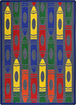 Playful Patterns Jumbo Crayons Rainbow Area Rug by Joy Carpets