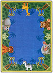 Kid Essentials - Infants & Toddlers Jungle Friends Multi Area Rug by Joy Carpets