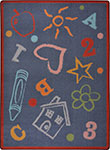 Playful Patterns Kid's Art Chalkdust Area Rug by Joy Carpets