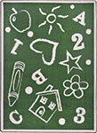 Playful Patterns Kid's Art Green Area Rug by Joy Carpets