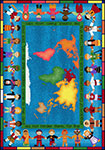 Kid Essentials - Inspirational Let the Children Come Multi Area Rug by Joy Carpets